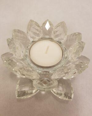 Lotus kaarshouder van kristal